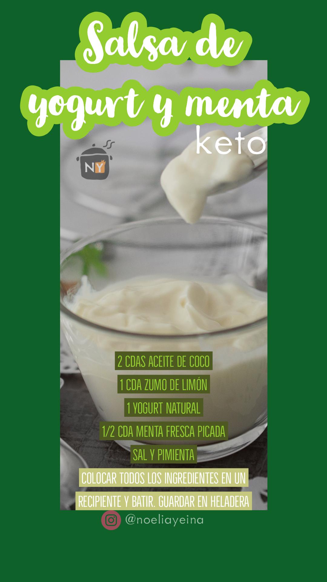 Salsa De Menta Yogurt Keto Food Keto Recetas