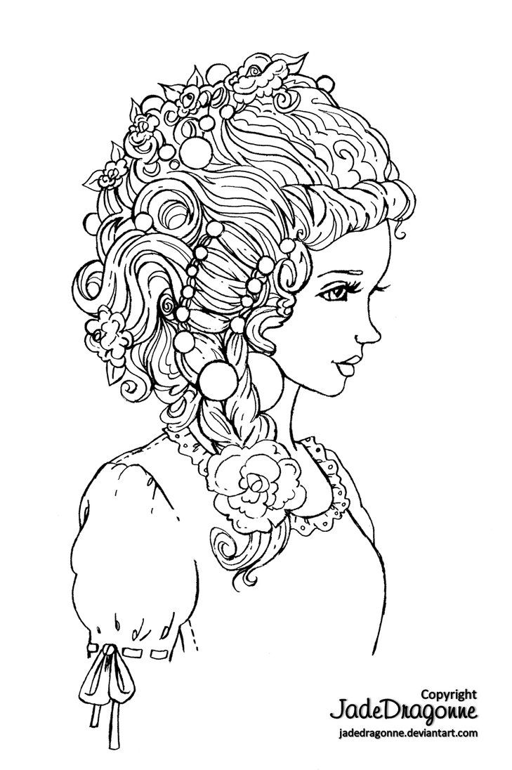 Traditional Art Graphite Digitally Cleaned Inspired By This Beautiful Doll Cute Coloring Pages Coloring Books Coloring Pages