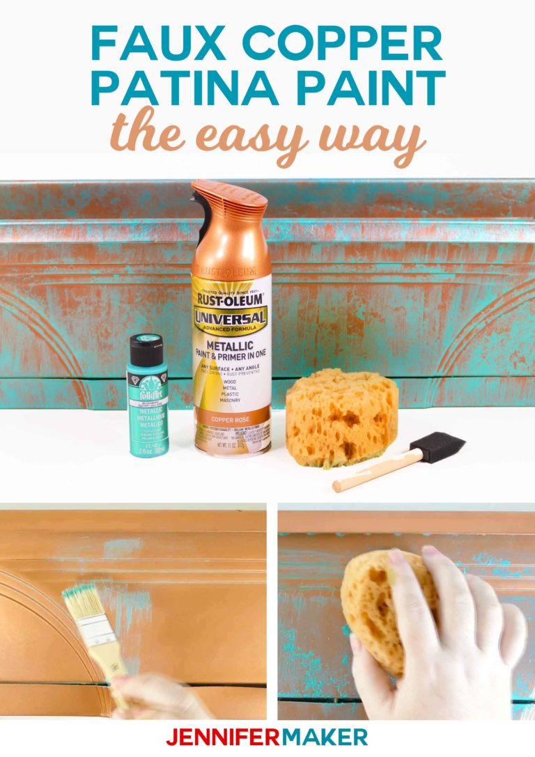 Faux Copper Patina Paint the Easy Way - Jennifer Maker