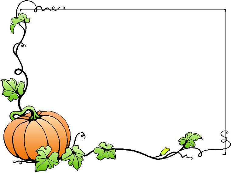 Thanksgiving Pumpkin Border Clipart Clip art borders