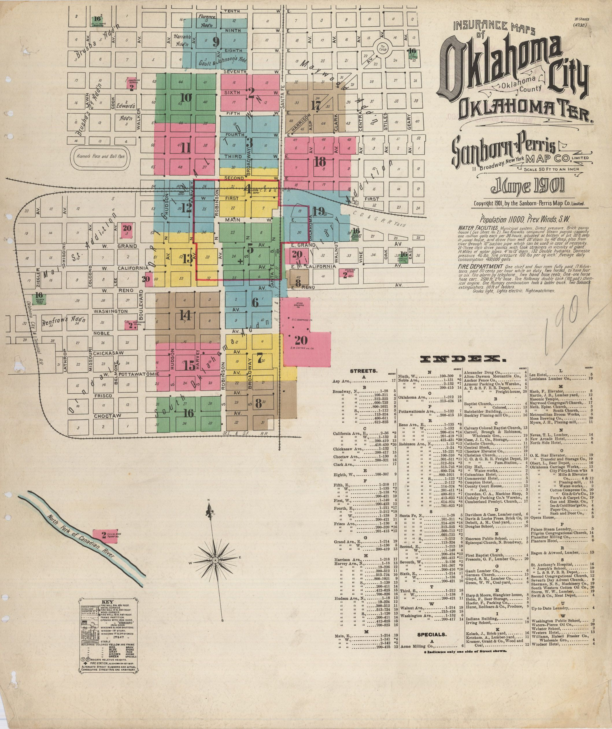 Ohs Map Collection Highlights Sanborn Maps Okc Map Map Of Oklahoma Map