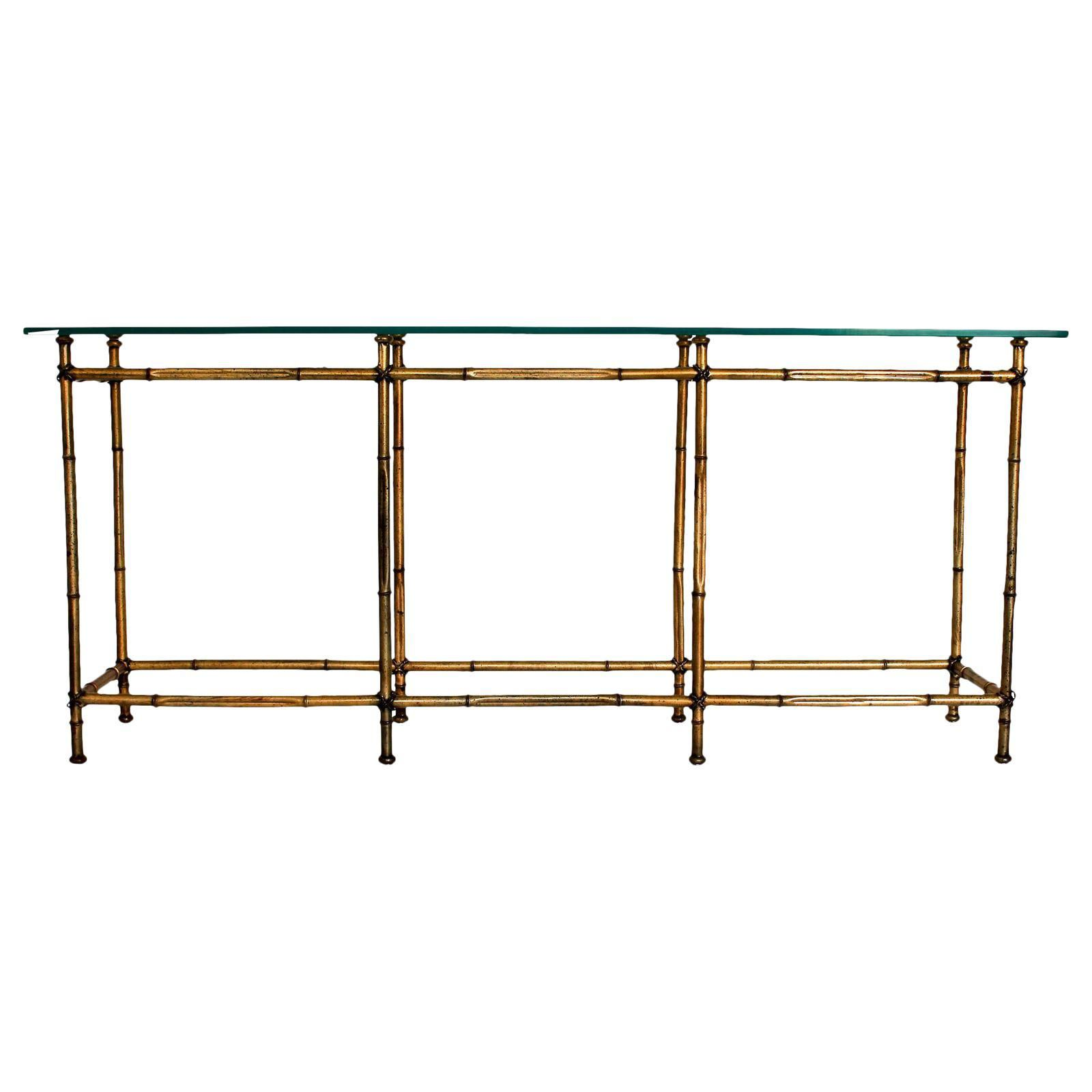 Faux Bamboo Console Table | Faux bamboo, Console tables and Consoles
