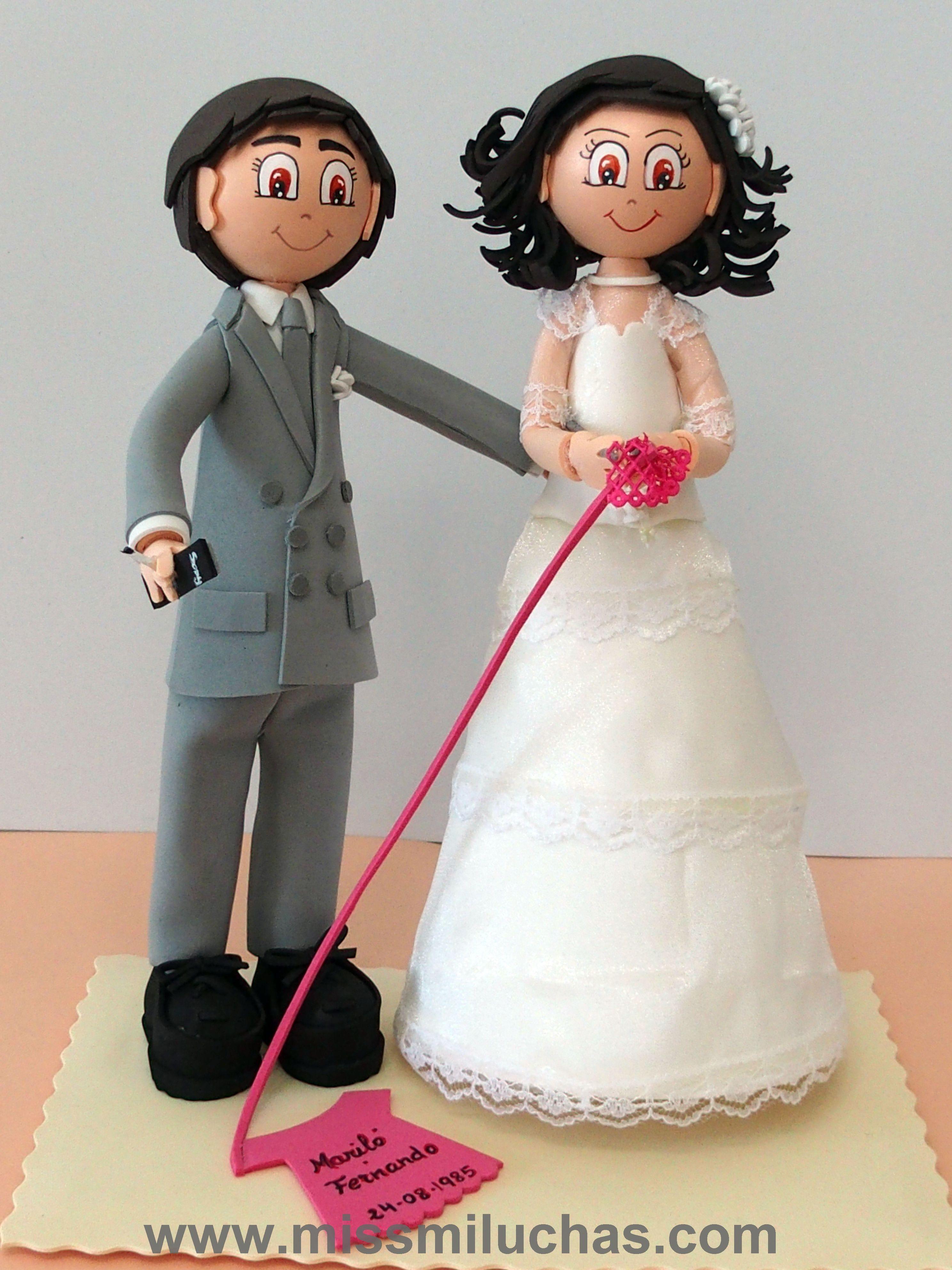 Mariló y Fernando el día que se casaron en los años 80.