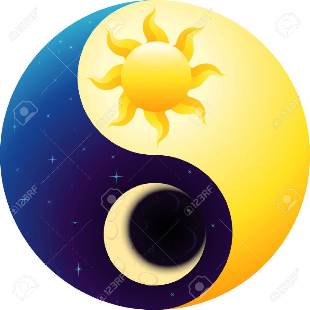 Yin Yang Animado Busqueda De Google Sol Luna Y Estrellas Pintura En Piedras Dibujos