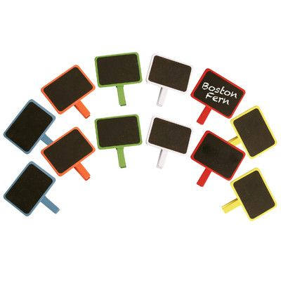 Shop Joss & Main for your 12-Piece Chalkboard Clip Set. Wald Imports - a set of twelve, chalkboard assortment. Add a pop of color! Painted wood chalkboard with handy clothespin clip for easy attachment.
