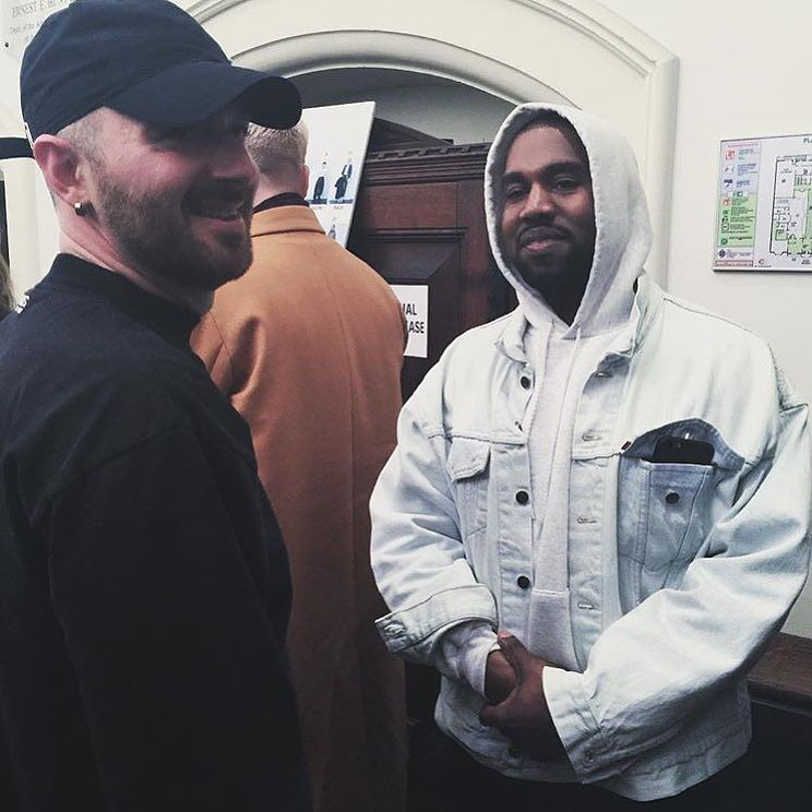 Labels Sittard On Instagram Vetements Designer Demna Gvasalia Backstage With Kanye West After The Fw16 Runway Show In Paris