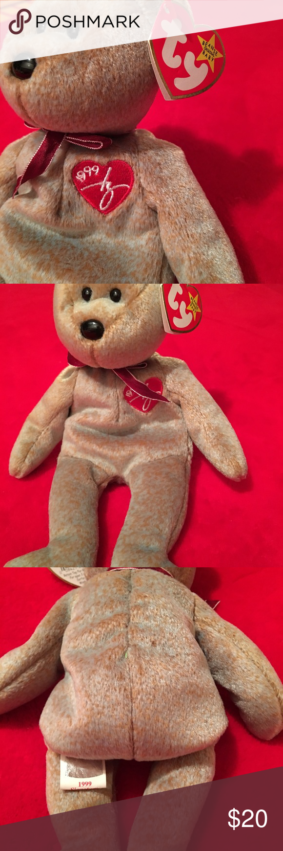 Ty Beanie Babie.. Signature Bear 1999 New with tag Signature Bear 1999. ty  Other bc34b16ec0