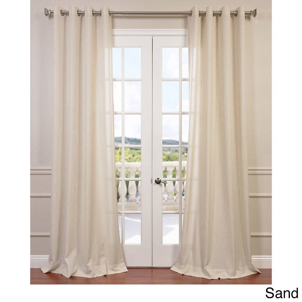 carlisle linen faux embroidered panel drapery home curtains softline slate fashions