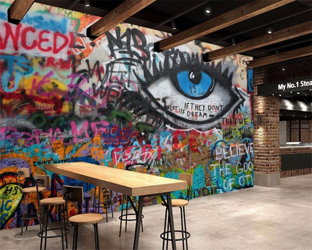 Cheap Wallpaper Seamless Buy Quality Custom Wallpaper Directly From China Graffiti Wallpaper Suppliers Beibehang Custom Wallpaper Ktv Bar Cafe Office