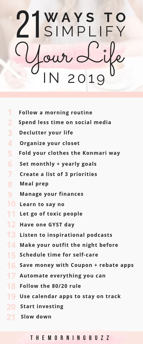 21 Ways To Simplify Your Life In 2019 | The Morning Buzz
