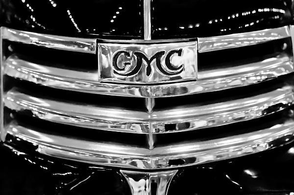 1941 Gmc Suburban Woody Wagon Grille Emblem By Jill Reger Gmc