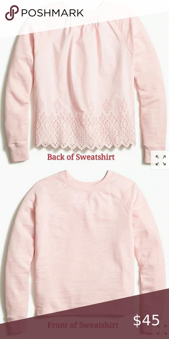 Last chance! Nwt! J.crew Eyelet-Back Sweatshirt