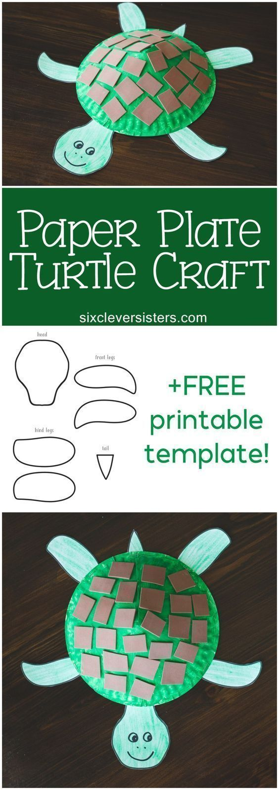 Paper Plate Turtle Craft for Kids (+ Free Printable Template!)