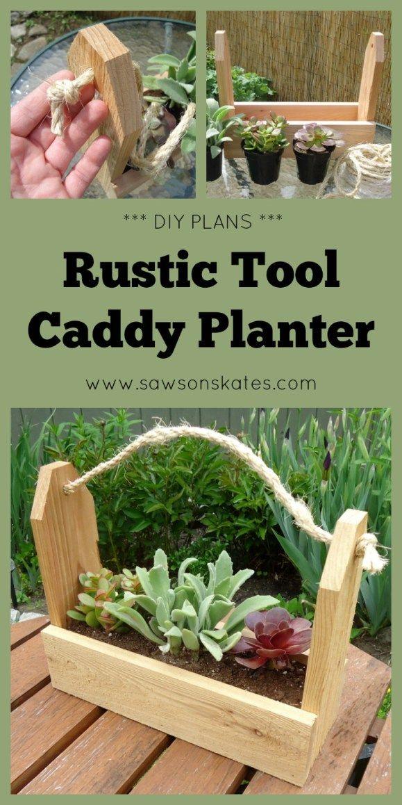 Diy Rustic Tool Caddy Planter Beginner Woodworking 400 x 300