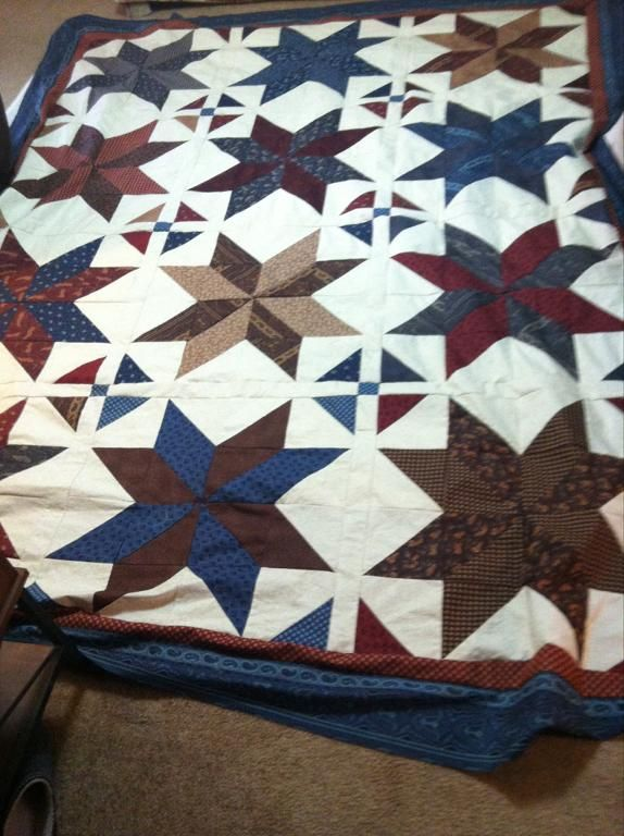 For this star block, Angela suggested using an all over background filler and…