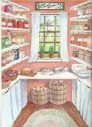 Drawing Of An Old Farmhouse Pantry