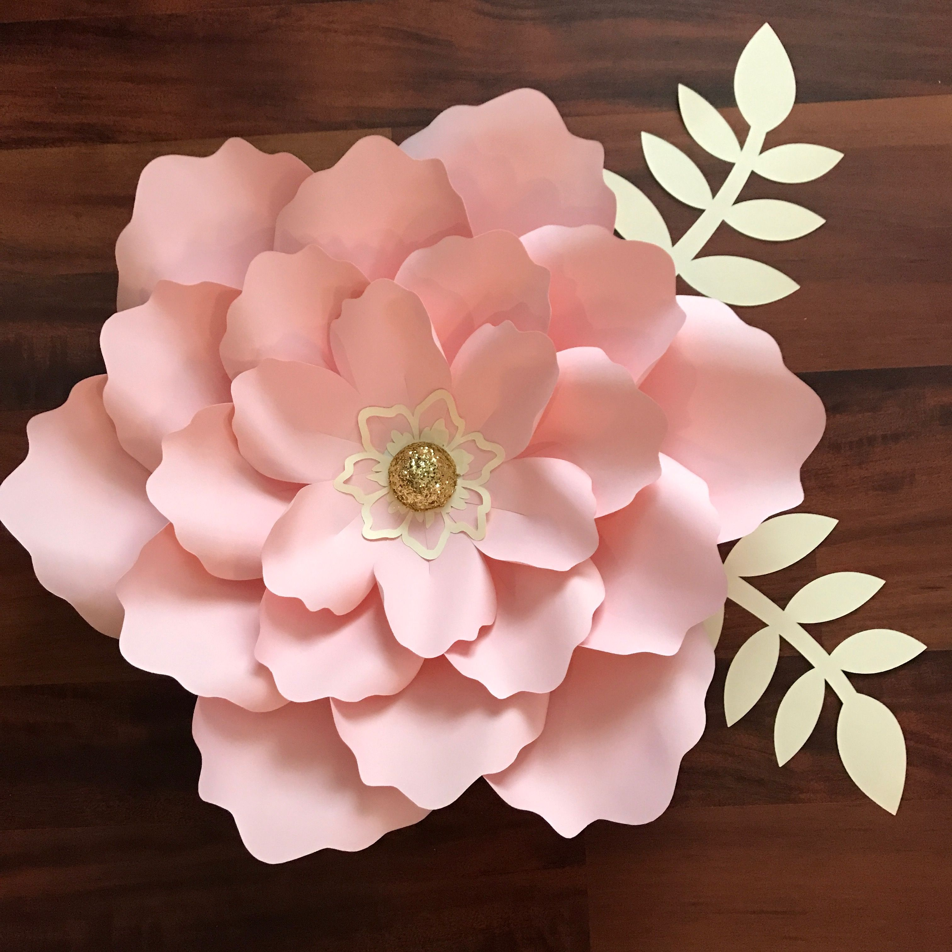Svg Petal 21 Paper Flower Template With Base Cutting Machines Such