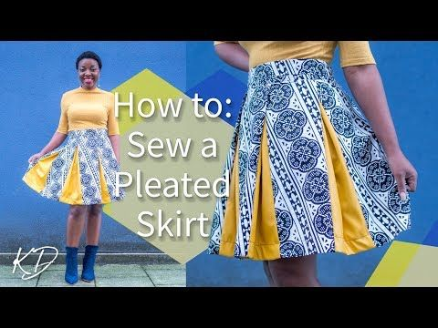 HOW TO: SEW A PLEATED SKIRT WITHOUT PATTERNS   KIM DAVE - YouTube ...