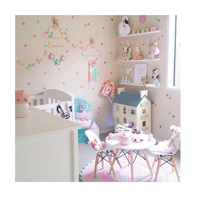 Inspiração mais linda para quarto de menina! 💕
