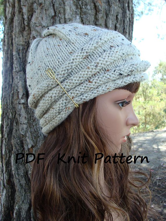 Pattern 19 Womens Beehive Knit Hat Pattern Instant Download Fun