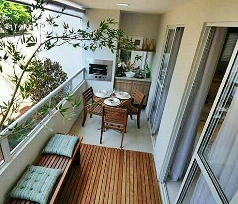 A little kitchen in a balcony cleverly dream house for Deco appartement 38m2