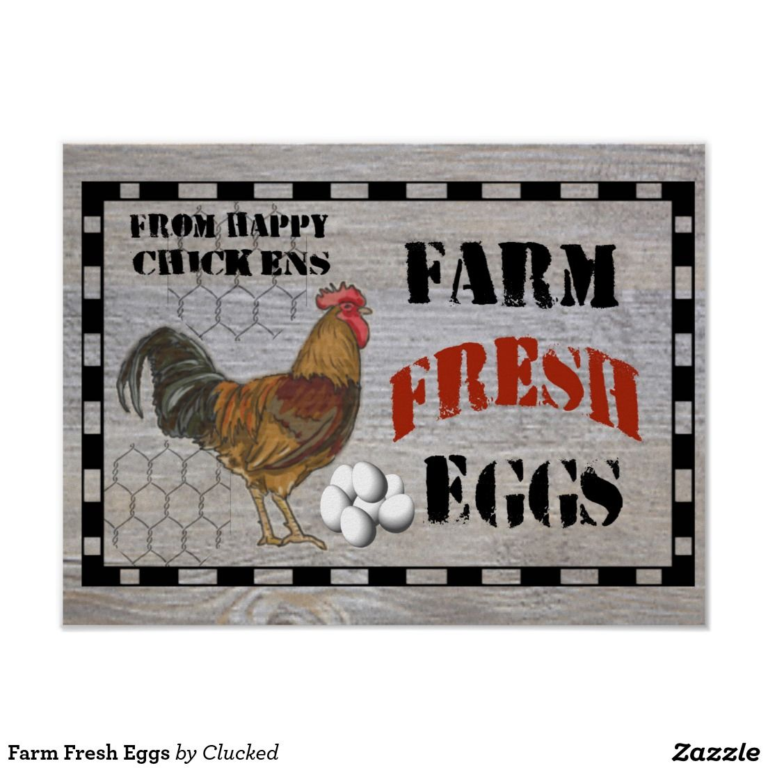 Farm Fresh Eggs Poster Selling eggs, Cards