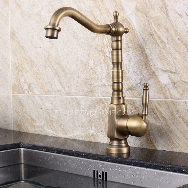 Affordable Brass Rotate 360 Degree Old Kitchen Sink Faucets With