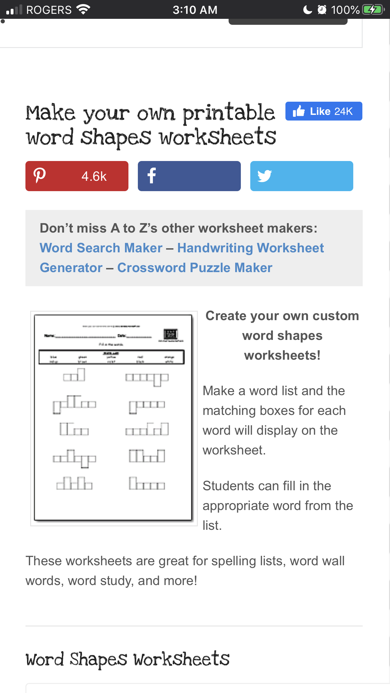 Word Box Worksheets In