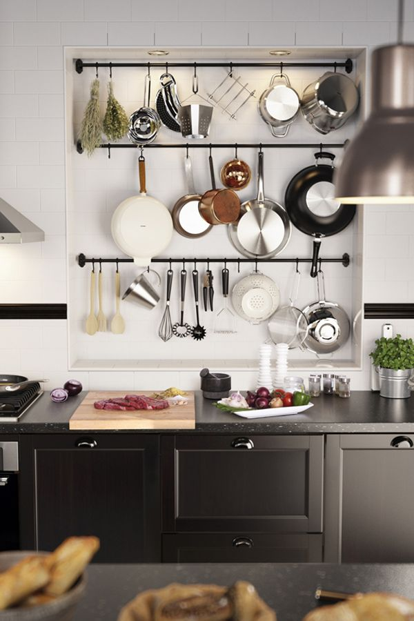 Short on kitchen storage space? Look to the walls! IKEA FINTORP