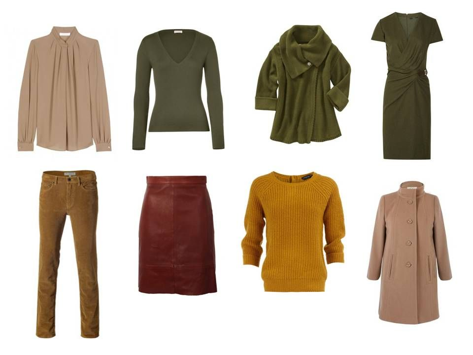 The Vivienne Files: A warm brown, green and rust capsule wardrobe based on a painting by Klimt