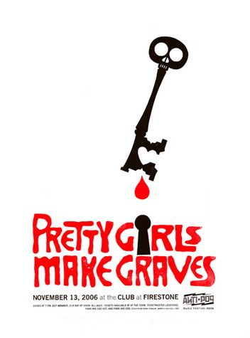 pretty girls make graves concert poster by dirk fowler posters and