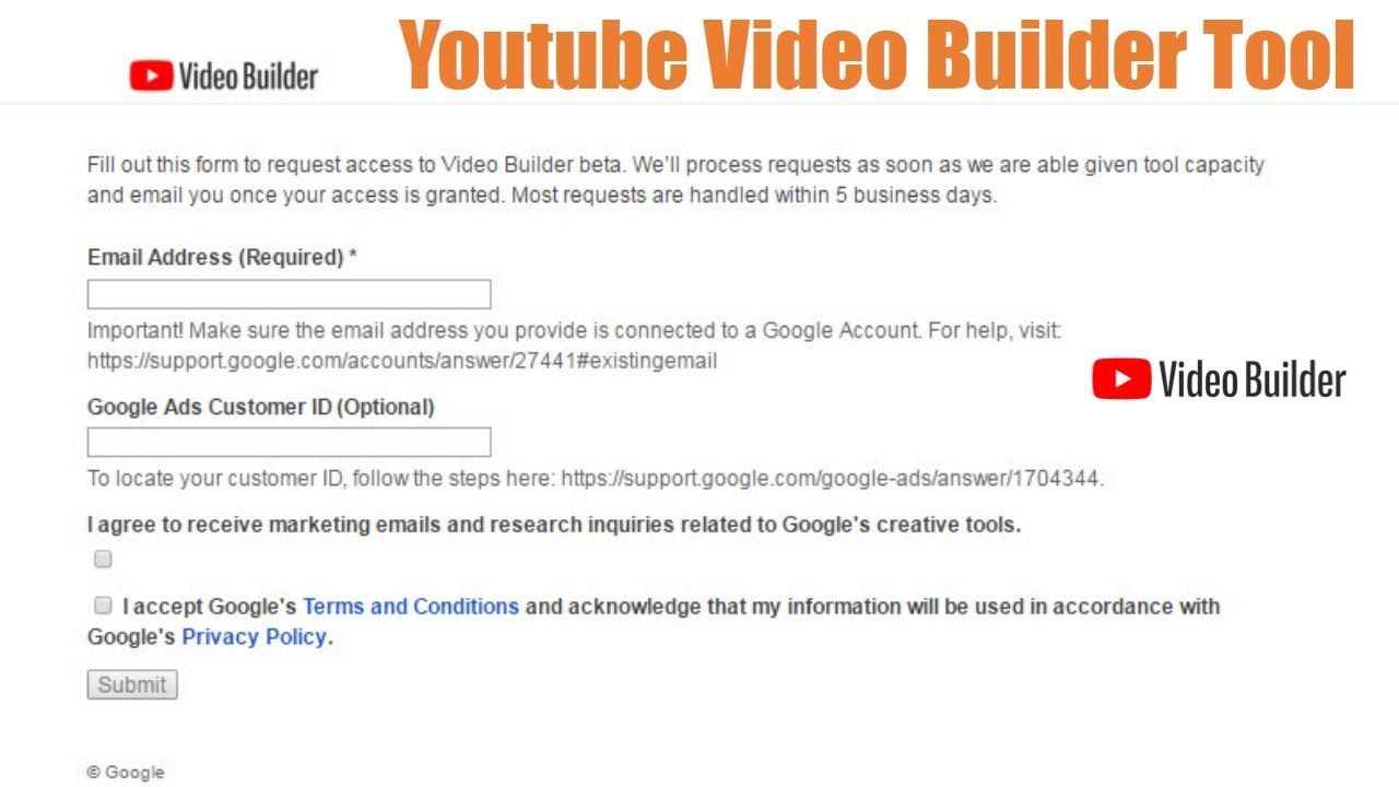 How To Apply Youtube Video Builder Tool 2020 New Short Video Features Youtube Videos Youtube How To Apply