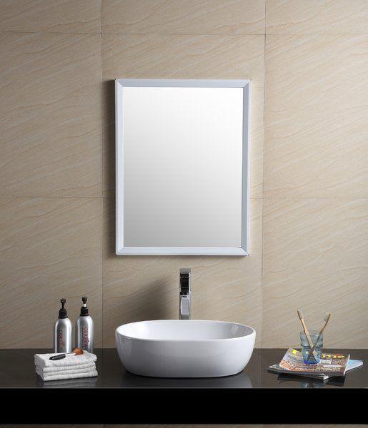 Modern Vitreous China Oval Vessel Bathroom Sink In 2019