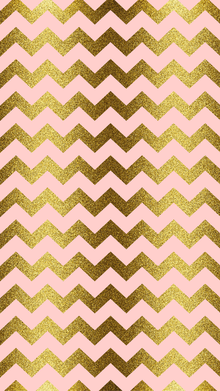 gold glitter, blush pink, chevron, iPhone Wallpaper #pinkchevronwallpaper