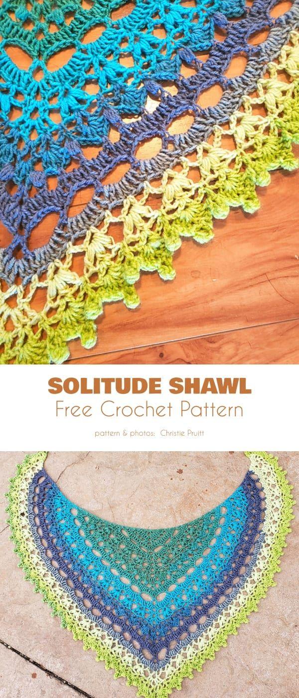 Lovely Shawl Free Crochet Patterns