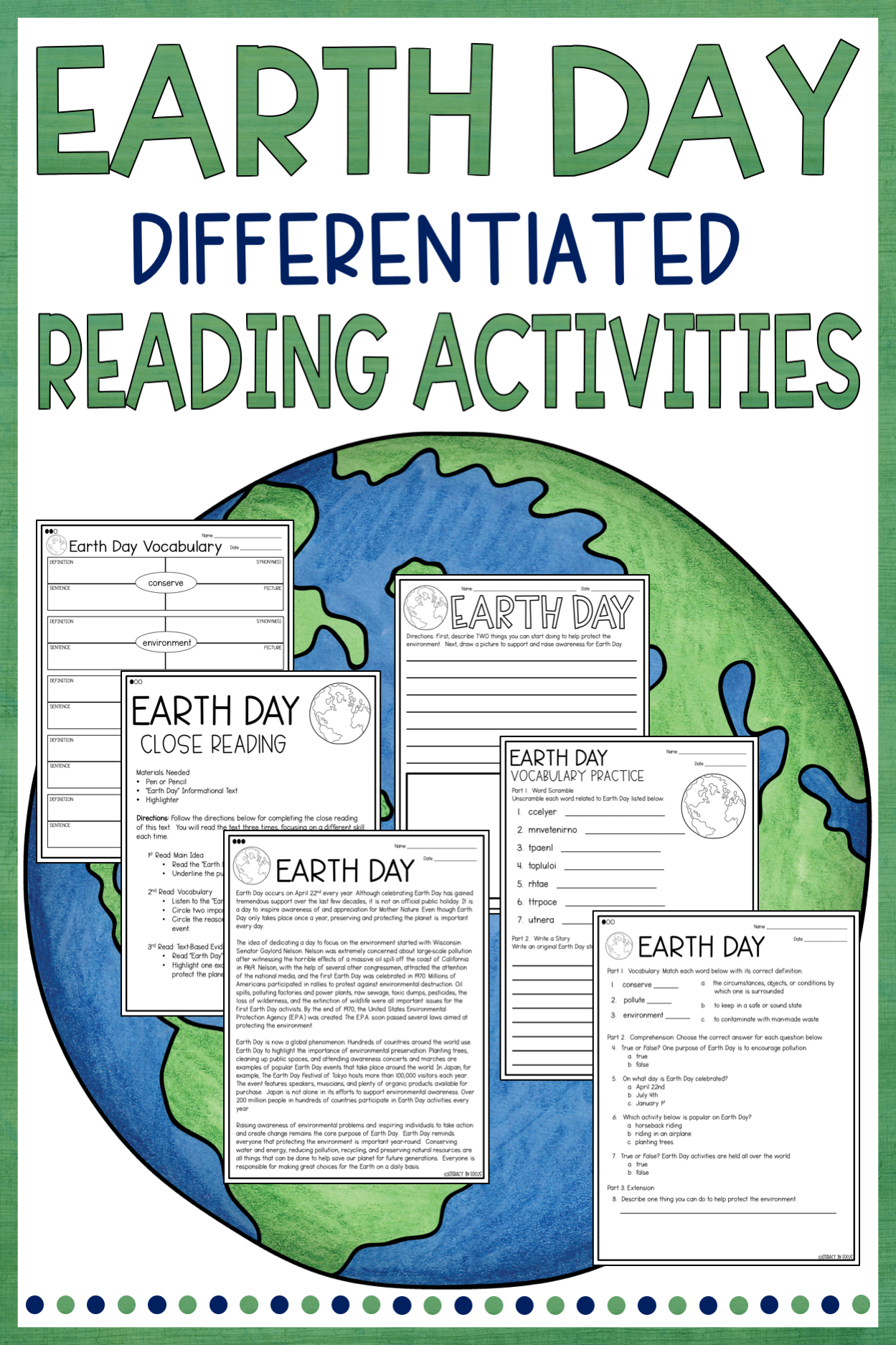 Earth Day Worksheet Middle School   Printable Worksheets and Activities for  Teachers [ 1874 x 1249 Pixel ]