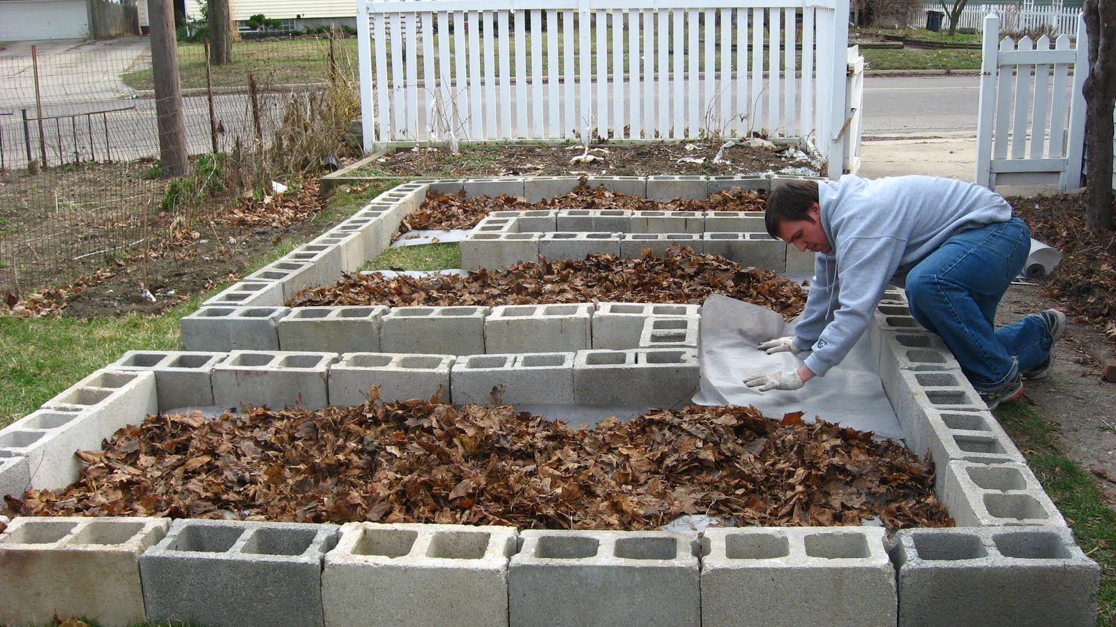 Creative Raised Garden Bed Designs Step 3 Install Landscape