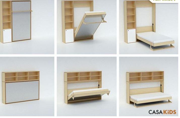 Pin de alfredo gonzalez en muros muebles cama oculta y cama plegable - Camas muebles plegables ...