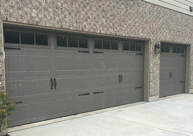 199 Carriage Garage Doors Terra Bronze Stockbridge 2 Windows