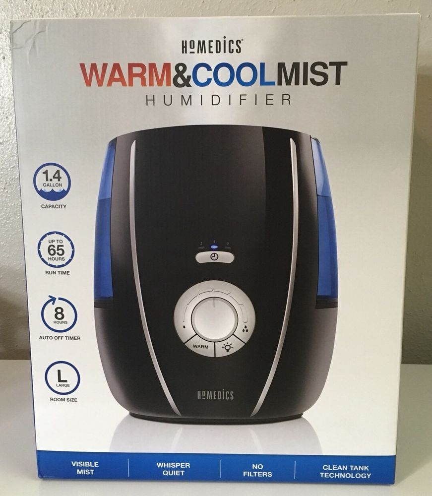 Homedics Warm Cool Mist Humidifier Large Room Uhe Wm80 New Sealed Homedics Cool Mist Humidifier Humidifier Mists