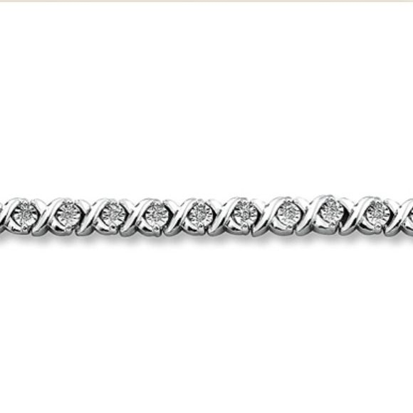 Kay Jewelers Diamond Bracelet 1 3 Ct Tw Round Cut Sterling Silver The Measures 7 5 Inches Like New