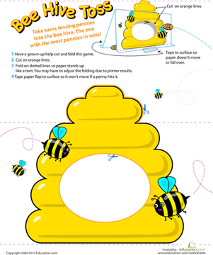 beehive coin toss a school math beattitudes for kids bee games bee theme. Black Bedroom Furniture Sets. Home Design Ideas