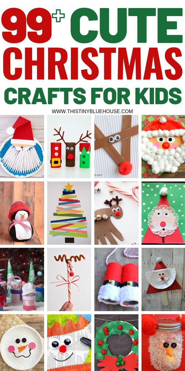 Photo of 100 Easy Festive Christmas Crafts For Kids