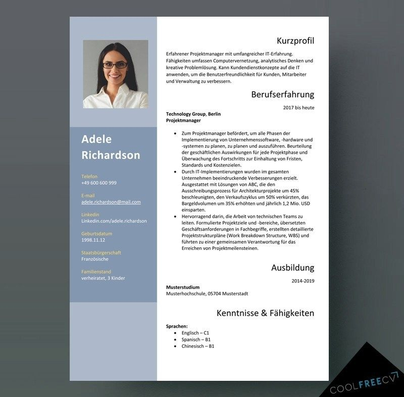 German Cv Template Format Lebenslauf Cv Template Word Cv Template Cv Design Template