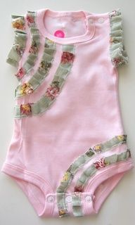 DIY ruffled onsie - not a fan of the colors but the idea is cute!