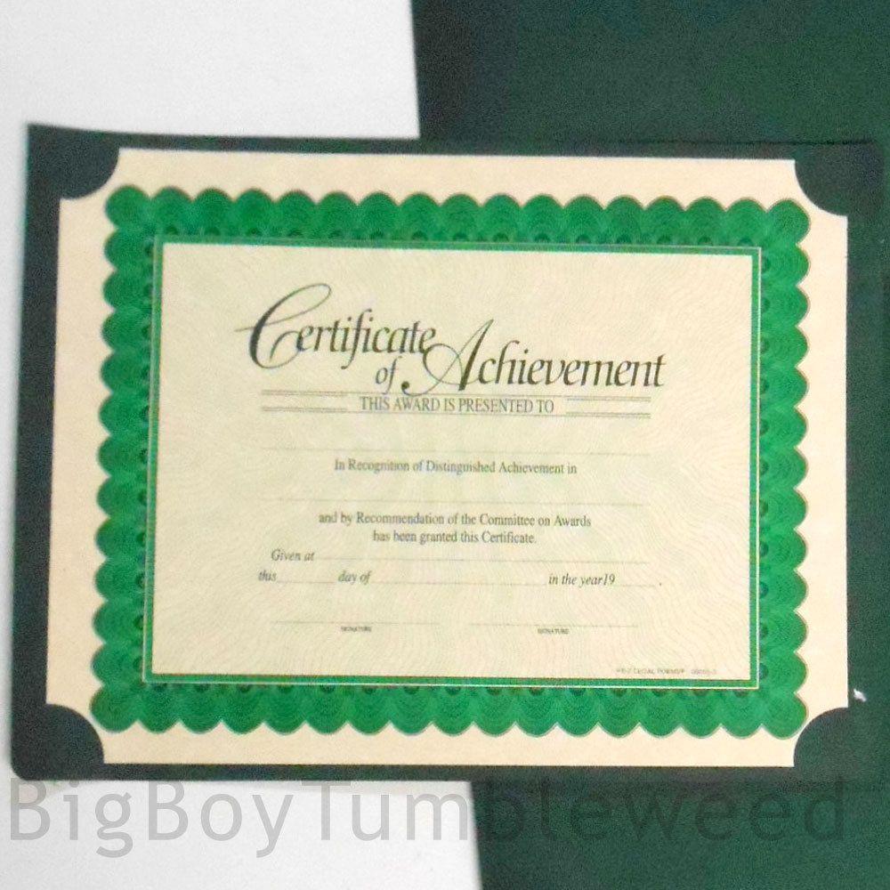 EZ Legal Forms Certificate Of Achievement Award Paper In Folder - Ez legal forms
