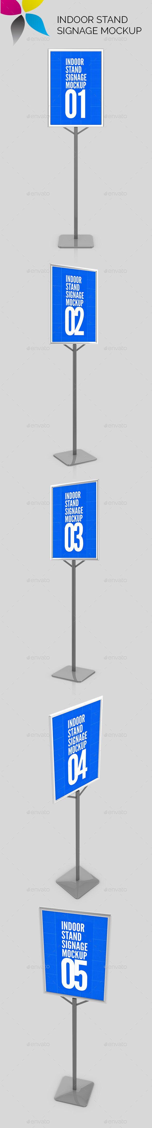 Indoor Stand Signage Mockup Standing Signage Signage Print Mockup