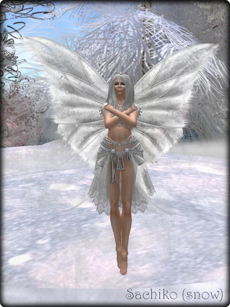 Faeline Fairy Wings - Sachiko (snow)