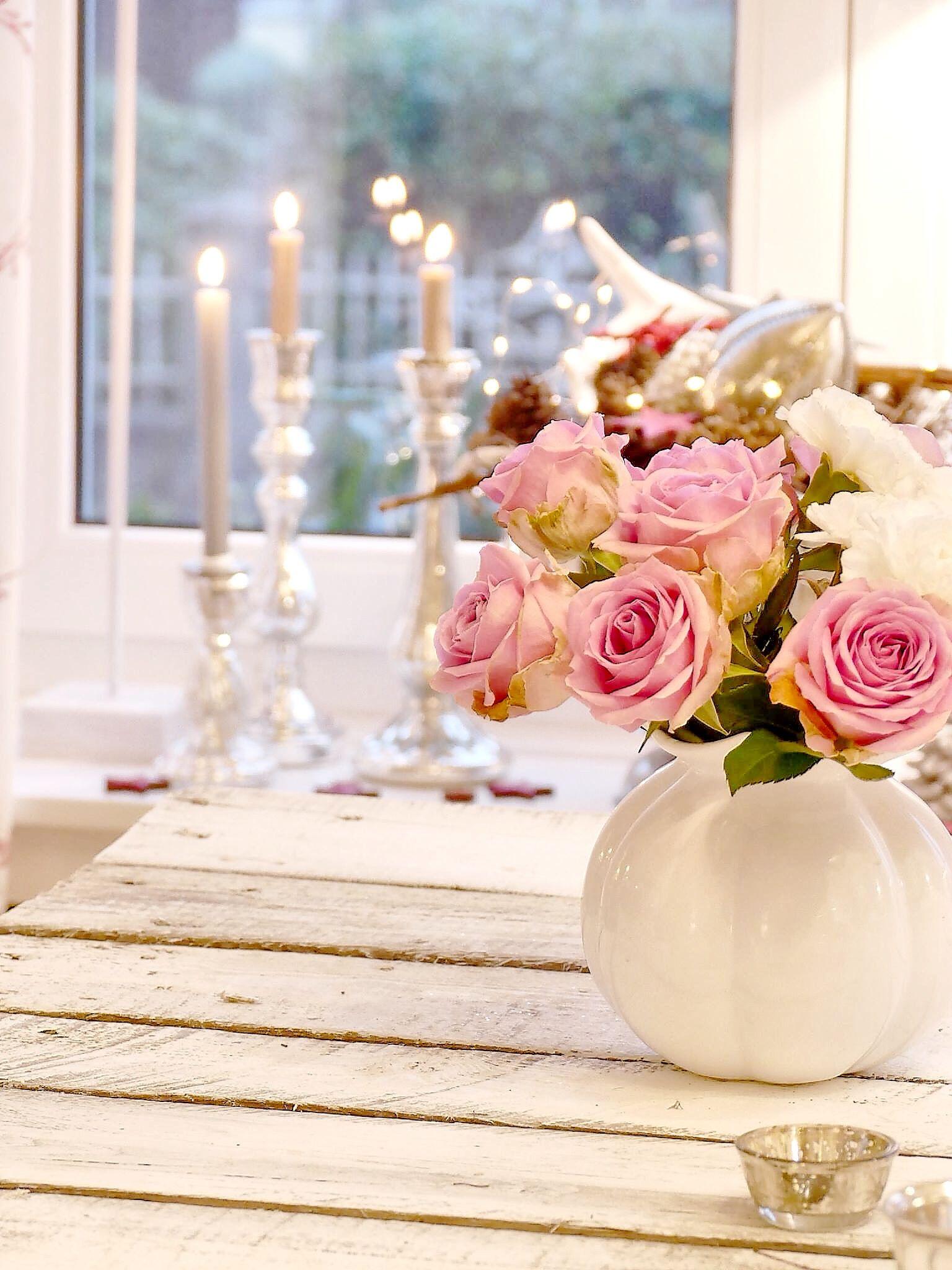 Xsmas#Weihnachten#rosen#deko#kerzen | Atiwares | Rose und Home