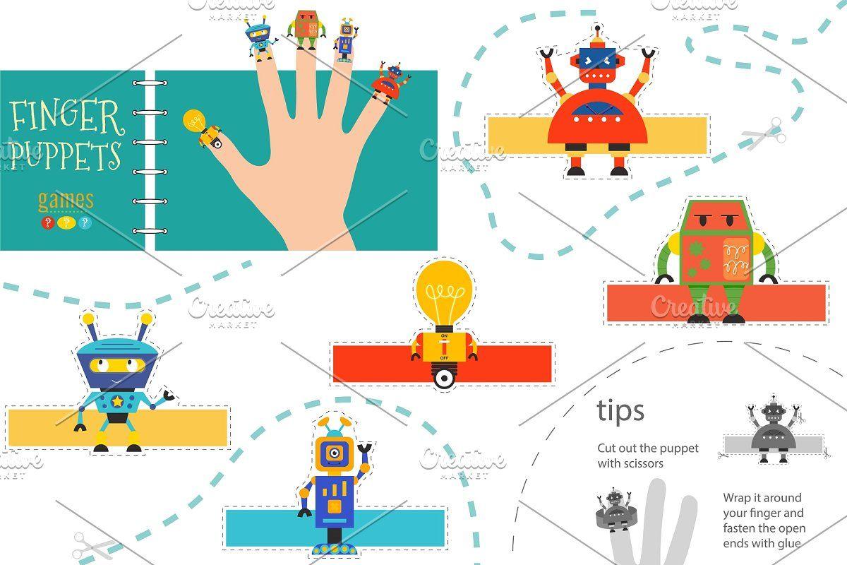 Vector Robotics As Finger Puppets In